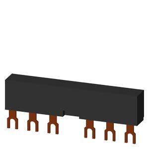 Siemens 3-Phasen-Sammelschienen 3RV1915-2AB Siemens 3RV1915-2AB 3-Phasen-Sammelschienen TEILUNGSABSTAND 55MM f�r 2 Schalter + ZUBEHOER, Anschl�sse in GABELFORM