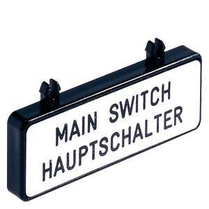 Siemens ZUSATZSCHILD 3LD9286-1A Siemens 3LD9286-1A ZUSATZSCHILD Deutsch/Englisch 47MM X 17MM (ZUBEHOER f�r Schalter 3LD2)